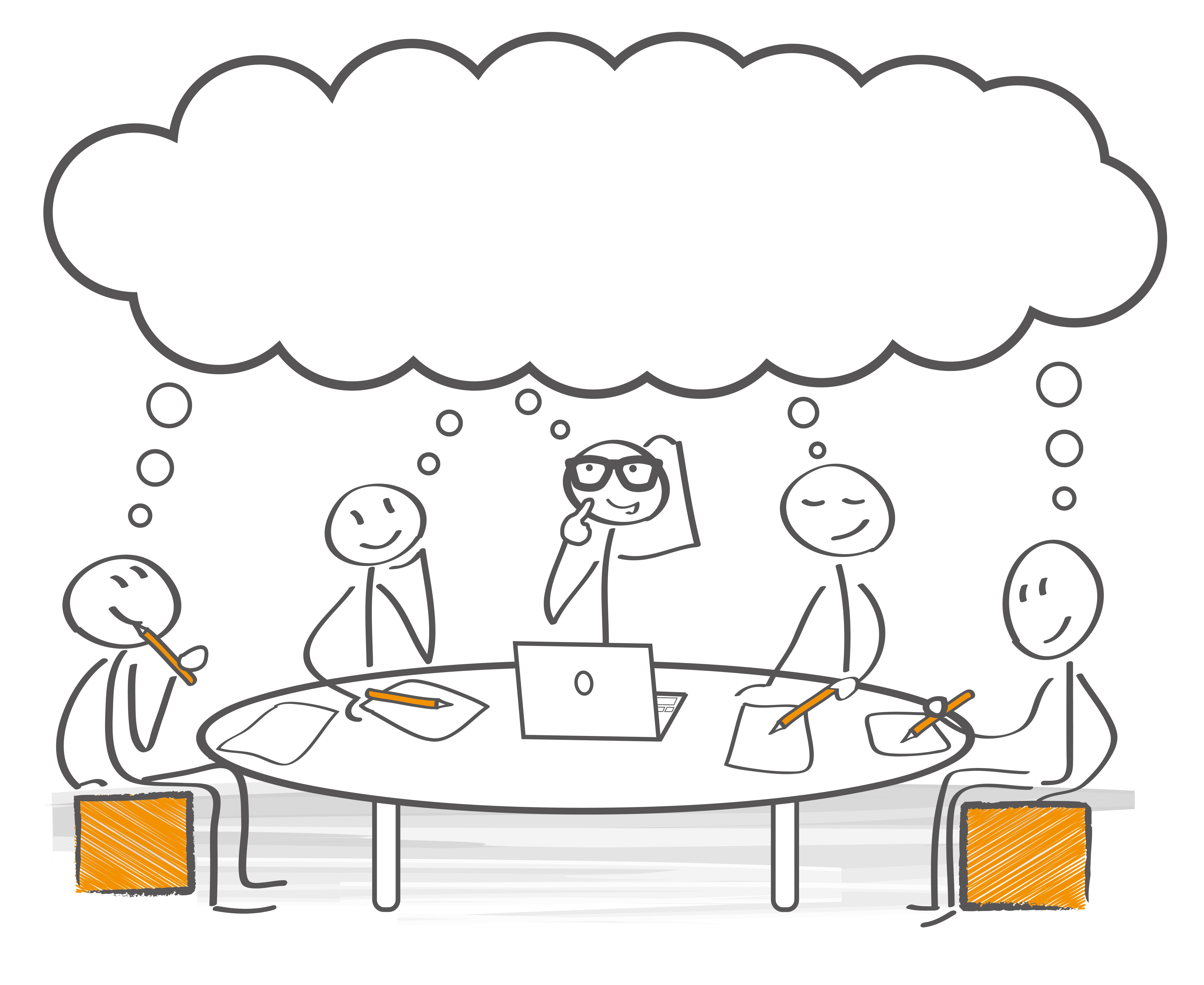 Besprechung Brainstorming