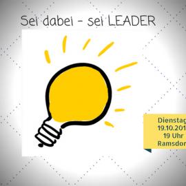 18.09.2017: LEADER-Informationsabend im Burgsaal in Ramsdorf am 17.10.2017