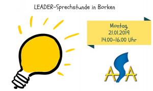 LEADER-Sprechstunde Januar 2019