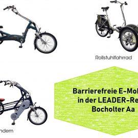 Barrierefreie E-Mobilität in der LEADER-Region Bocholter Aa
