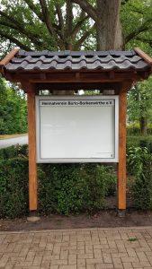 Außenschaukasten am Heimathaus Burlo-Borkenwirthe